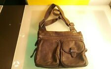 Danier grey leather purse bag handbag women's good shape