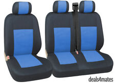 2+1 Tela Azul Cubiertas para asientos para VOLKSWAGEN CADDY IVECO DAILY