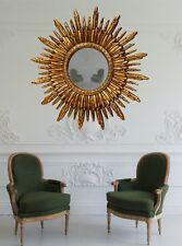 Antique Gold Colour Mirror, Sun Mirror, Sunburst Mirror,  Starburst Mirror