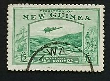 New Guinea, 1935 £5 SG 205 Fine Used. Superb Example of this scarce stamp