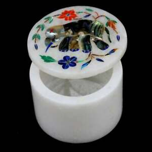 Marble Inlay Jewellery Trinket Box Marquetry Elephant Inlay Gift For Love One's