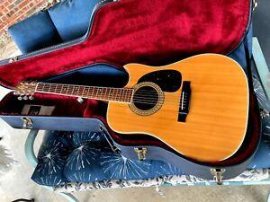 Vintage 1976 Alvarez Model 5064 Acoustic Guitar With Cutaway Natural With HSC.