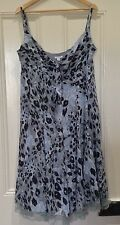 QUEENSPARK  Dress Size 14 Blue Grey Wedding Party Formal Lovely reduced SALE
