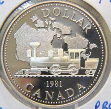 1981 Canada Dollar - Elizabeth II - Trans Canada Railway Commemorative - SB# 220