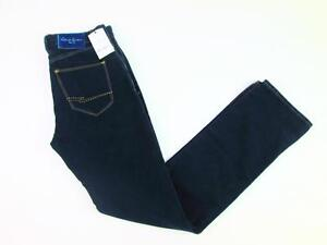 ROBERT GRAHAM NAVY INDIGO BLUE SKIN VELVET PANTS STRAIGHT LEG JEANS 30 NWT $268