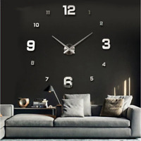 New Wall Clock Clocks Watch Horloge Murale Diy 3d Acrylic Mirror sticker Large H