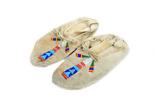 Native American Indian c.1930s Vintage  Moccasin w/ Kachina design Beads