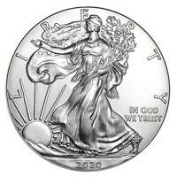 1 oz Silber American Silver Eagle 2020 USA 1 Dollar Silbermünze 999
