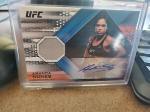 2019 Topps UFC/Knockout Amanda Nunes /99 AUTO RELIC CARD! LIONESS