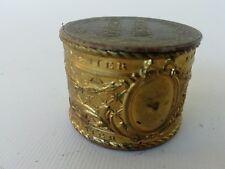 vieille petite boite ancienne publicitaire chocolat Meunier, métal & carton