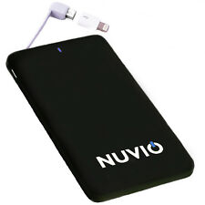 Power Bank 5000mah Slim Portable USB External Battery Charger by Nuvio in Black