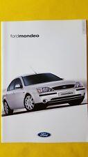Ford Mondeo LX Zetec S Ghia X car brochure sales catalogue October 2001 MINT