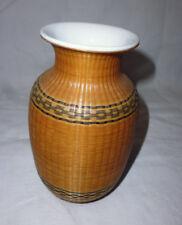 petit vase en porcelaine tressée paille vannerie Asie Chine ?