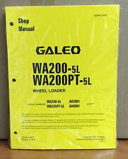 Heavy equipment manuals books for komatsu wheel loader ebay komatsu galeo wa200 5l wa200pt 5l wheel loader shop service repair manual sciox Gallery