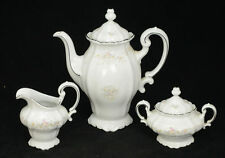 Floral Splendor Garland Coffee Tea Pot Creamer & Sugar Johann Haviland Bavaria