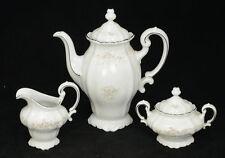 Floral Splendor Garland Coffee Tea Pot Creamer & Sugar Johann Haviland Bavaria