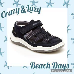 stride rite 360 antonio toddler boys sandals, size 6, navy, Boys Shoes, New