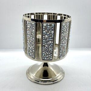 Bath & Body Works 3-Wick Candle Holder Pedestal Sleeve W/ Embellished Jewels