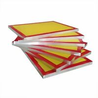 "6 Pcs - 20"" x 24"" Aluminum Screen Printing Screens with 200 Yellow Mesh Count"
