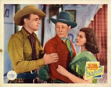 HIT THE SADDLE (1937) Lobby card ft. Rita Hayworth + Three Mesquiteers BRIGHT