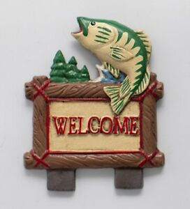 Fish Welcome Lodge Door Knocker Top Topper, Midwest of Cannon Falls. Rare! CF
