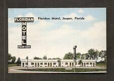BUSINESS CARD:  FLORIDAN MOTEL - JASPER, FLORIDA - on U.S. 41 & 129 - c.1940s