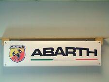 Abarth BANNER Fiat Workshop Garage pvc Display Car Show Sign, Fiat 500, 500C