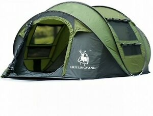 Large Throw Tent Outdoor 3-4 Persons Automatic Speed Open Throwing Pop Up