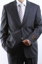 MENS 2 BUTTON EXTRA FINE SLIM FIT GRAY DRESS SUIT 46R, PL-60512H-GRE