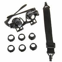 10/15/20/25X Brille Lupenbrille LED Vergrößerungsglas Lupen Uhrmacher Juwelier +