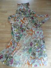 Señoras Dorothy Perkins Maxi Vestido De Cuello Halter-tamaño 20