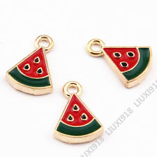 10x Enamel Gold Plated Watermelon Pendant Charm DIY Jewelry Accessories 933H