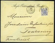 Austria 1896 Vienna To Tourcoing Anglo Austrian Bank Cover