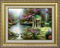 Thomas Kinkade The Garden of Prayer 12x16 Classic Edition Framed Canvas