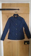 Barbour Navy Quilted Jacket Size 8