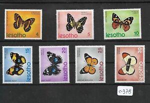 SMT 221, Lesotho, Butterflies, set of 7 stamps, MNH