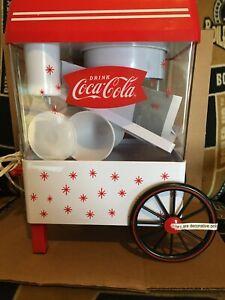 Nostalgia COCA COLA Vintage Countertop Snow Cone Maker Machine Ice Shaver NO BOX