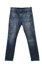 Vintage Wrangler High Waist Jeans Billie Straight Leg Ripped 30 in. Blue - J4056