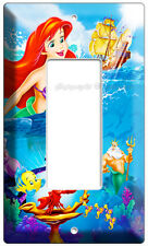 LITTLE MERMAID PRINCESS ARIEL SINGLE GFI LIGHT SWITCH COVER PLATE GIRLS BEDROOM