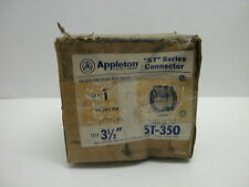 "APPLETON ST-350 ST SERIES STRAIGHT CONNECTOR 3 1/2"" DIA LIQUIDTIGHT NEW IN BOX"