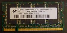 256MB DDR-266 LAPTOP RAM MEMORY SAMSUNG CL 2.5 PC2100
