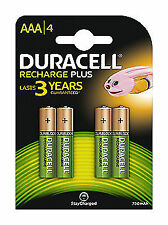 Duracell Recharge Plus AAA Rechargeable Battery - 4-Pieces (81364750)