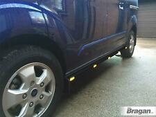 Para 02-14 ford transit tourneo connect Swb Lateral Barras Negro Inoxidable +