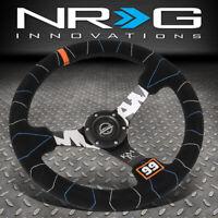 "NRG INNOVATIONS RST-036MB-S-KMR 350MM 3"" DEEP DISH SUEDE HANDLE STEERING WHEEL"