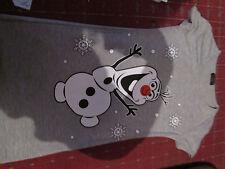 "Frozen Ladies girls grey dancing Olaf novelty print xmas T-shirt  28"" chest"