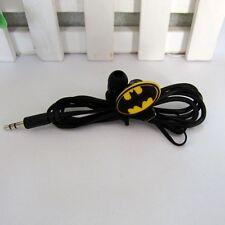 Cute Batman logo 3.5 mm In-ear Earbud Headphones Earphones for Mobile Phone MP3
