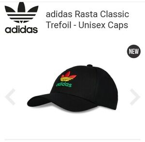 NEW RETRO ADIDAS ORIGINAL SUPERSTAR BASEBALL CAP HAT RASTA FLAT 1 SIZE FITS ALL