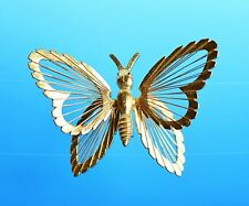 MONET signed gold tone Butterfly great condition   BROOCH