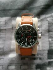 Accurist mens watch Brown Tan New Battery