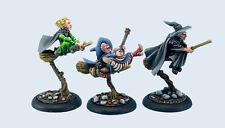 Micro Art Studios BNIB Discworld Three Witches on brooms (3) D02900